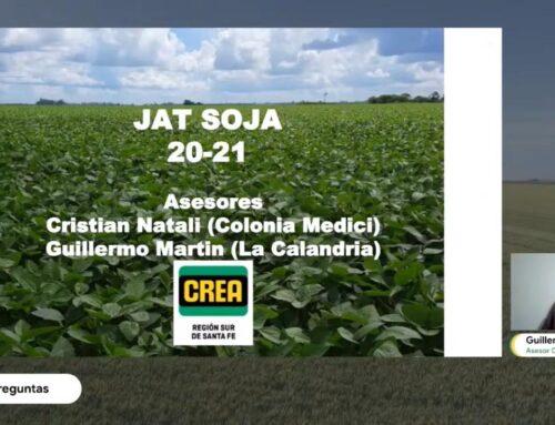 JAT MÓDULO SOJA – Aprendizajes campaña 2020-21, proyección 2021-22 (Guillermo Martín y Cristián Natali)
